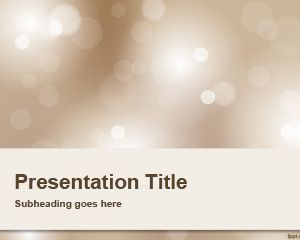 Blur Background  PowerPoint Template