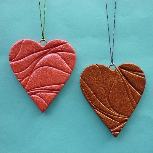 salt dough pendant - great idea for jewellery and for Christmas ornaments