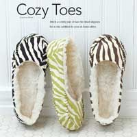 Fun tutorial for slippers! cute for Mother's Day, too.