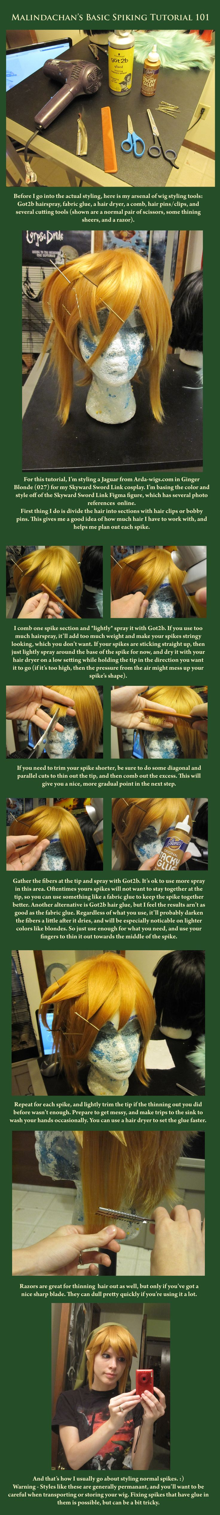 Wig Styling 101: Spiking by *Malindachan Love how she made it into Link's hair. I should so do this.