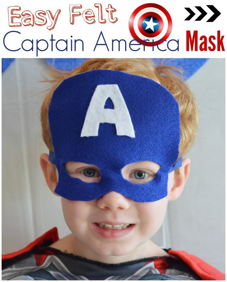 Easy Felt Captain America Mask- If you can cut and glue you can make this easy costume accessory.