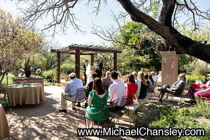 Wedding Ceremony At The Tucson Botanical Gardens Wedding Venue In Tucson AZ  Arizona By Michael Chansley Photography Wedding Photographer Tucson Ideu2026