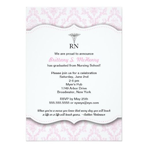 110 best nursing school graduation invitations images – Nursing School Graduation Invitations