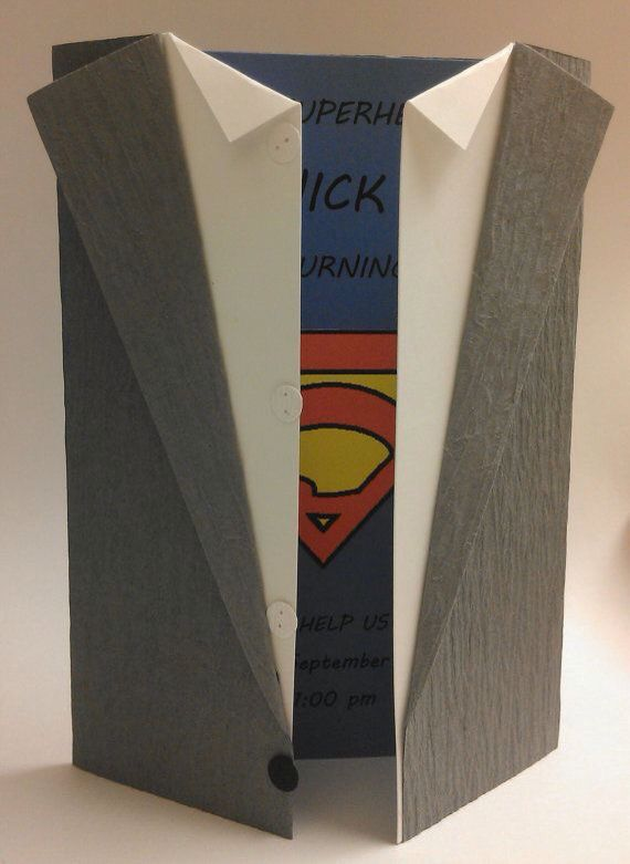 Superman carta de invitación