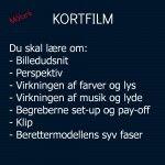 KORTFILM i undervisningen - målark www.coolitconsult.dk