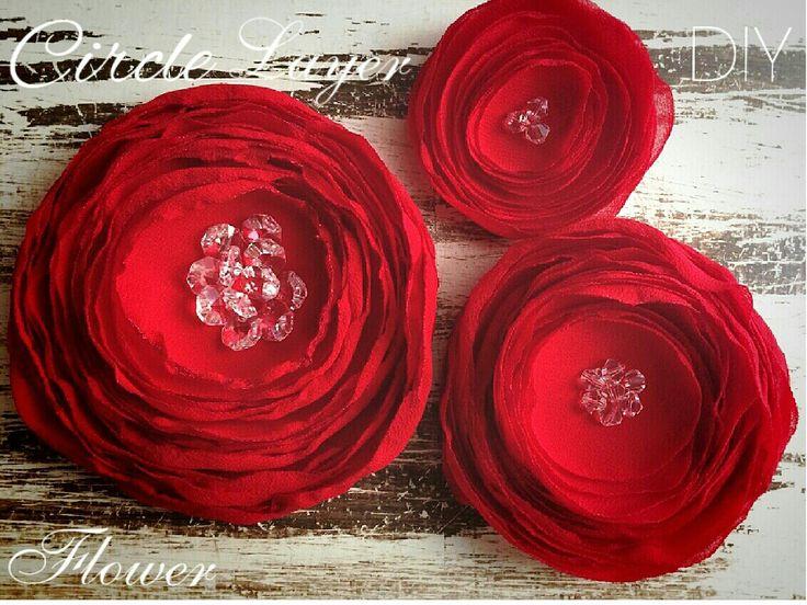 Layer Chiffon Fabric Flower  8 $ USD Artfabricflowers- Instagram YouTube  channel -Artfabricflowers  by Aleymy