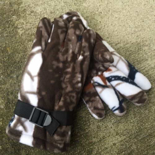ADULT-Hunting-Gloves-Camo-Fleece-Insulated-Gloves-THERMOWARE-SNOW-CAMO-4