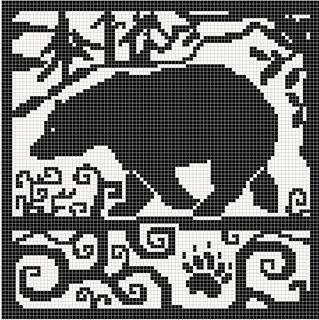 Spirit bear Chart pattern by Melanie Nordberg