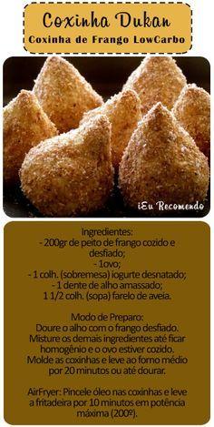 Coxinha de Frango Dukan - Dieta Dukan