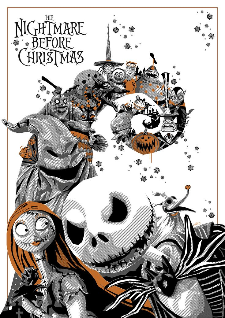 thepostermovement:  Nightmare Before Christmas by Simon Delart