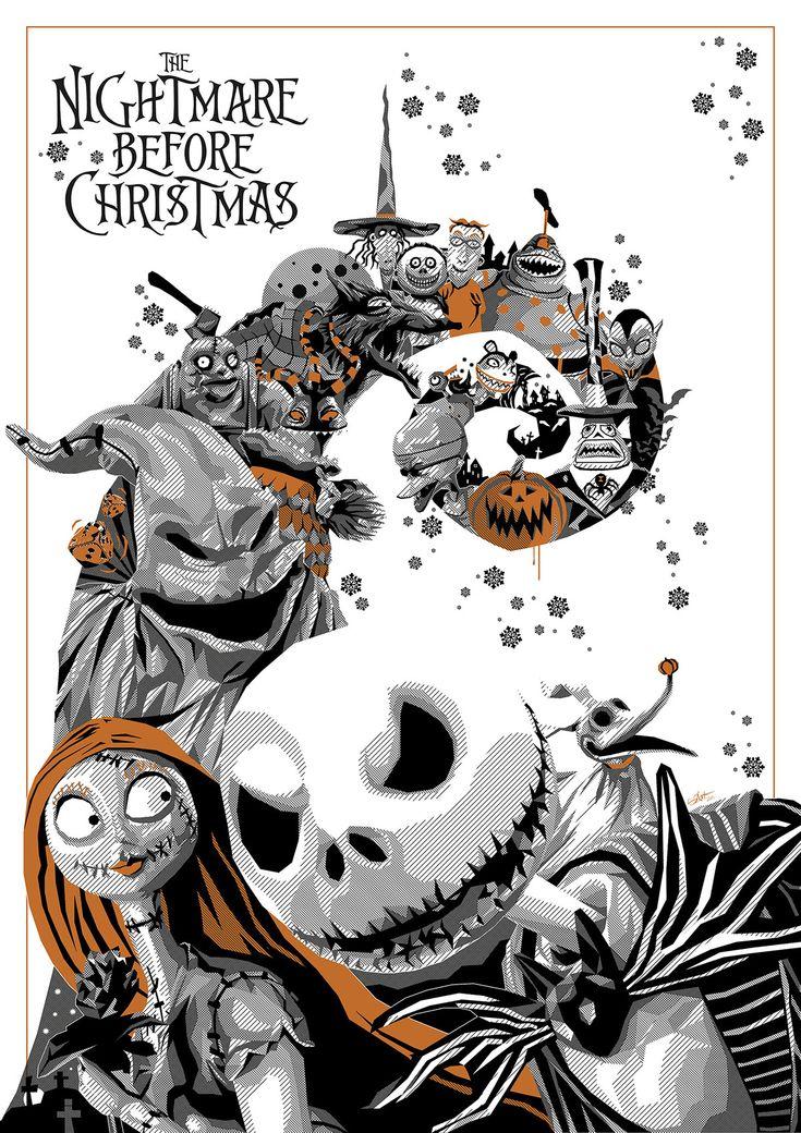 thepostermovement:  Nightmare Before Christmas by Simon Delart