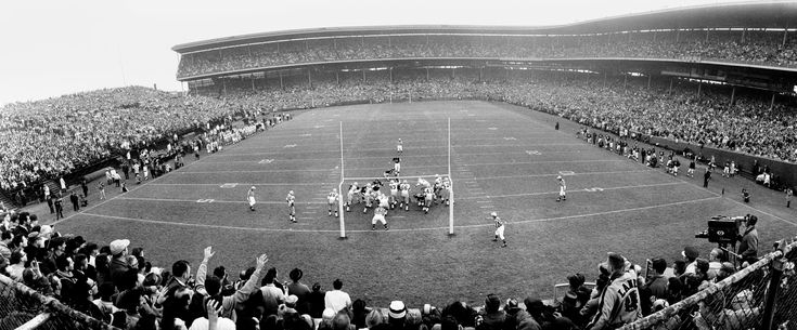 Packers vs. Bears. Wrigley Field, Chicago. 1963