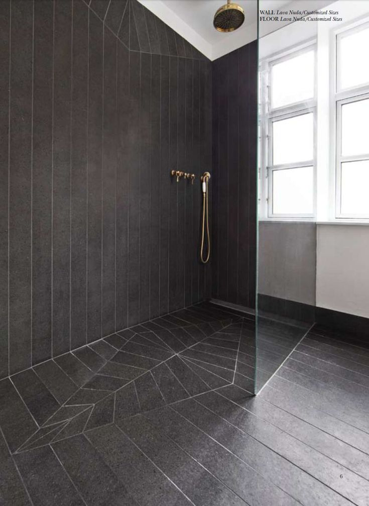 Made A Mano Collection: if the win bath is a wet room - tile treatment