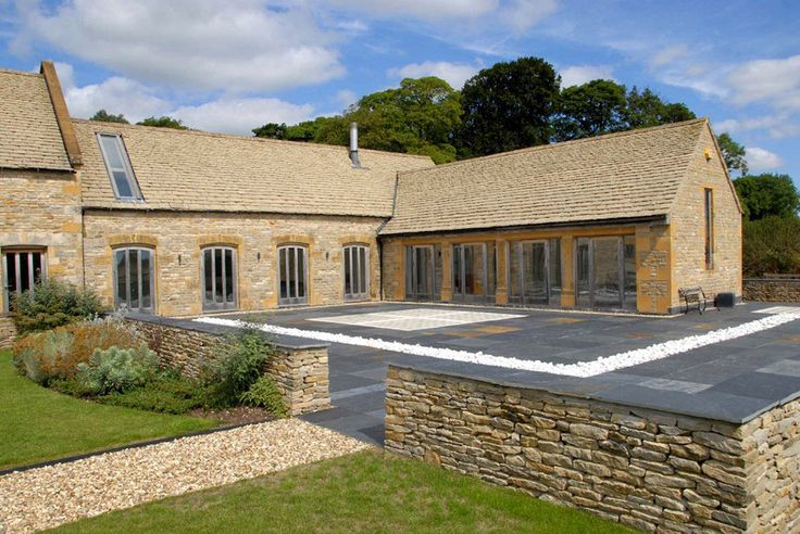 Terrace, 18th-Century Barn Conversion in the Cotswolds, England