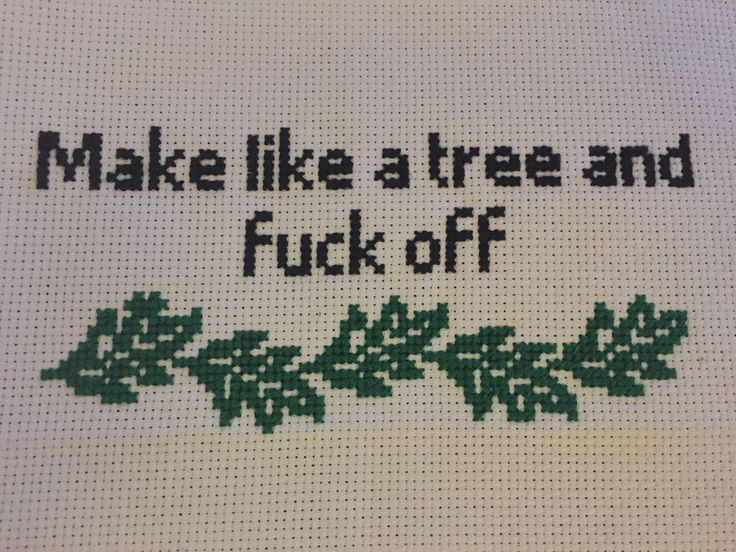 """Trailer park boys cross stitch. Change it to """"get out of here"""" and its back to the future"""