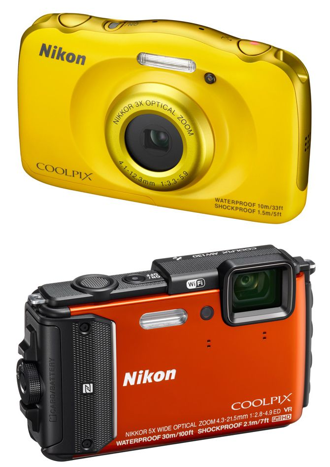 Wodoszczelne aparaty Nikon - Coolpix AW130 oraz S33