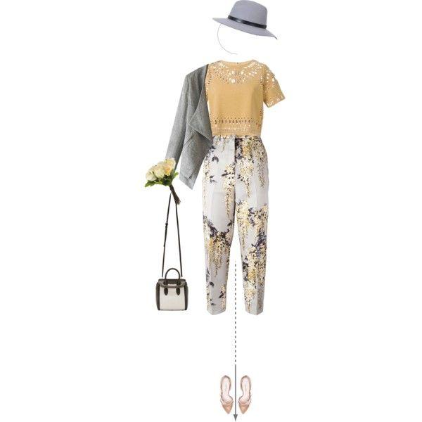 Romance in Floral Simplicity by beautybybri on Polyvore featuring Sea, New York, Rochas, Oscar de la Renta, Alexander McQueen, Miss Selfridge, OKA and vintage