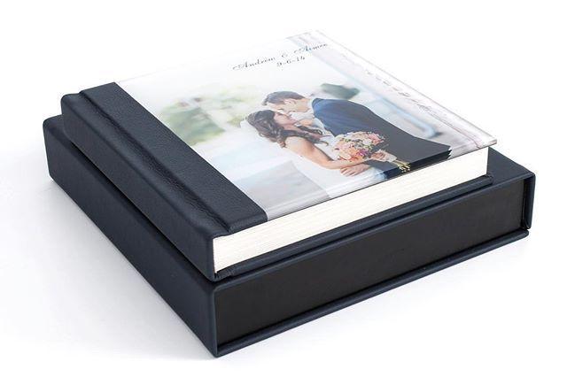 Heirloom Albums Starting At 280 Navy Blue Acrylic Cover Weddingalbum With Matching Keepsake Box Wedding Photo Books Wedding Photo Albums Photobook Design