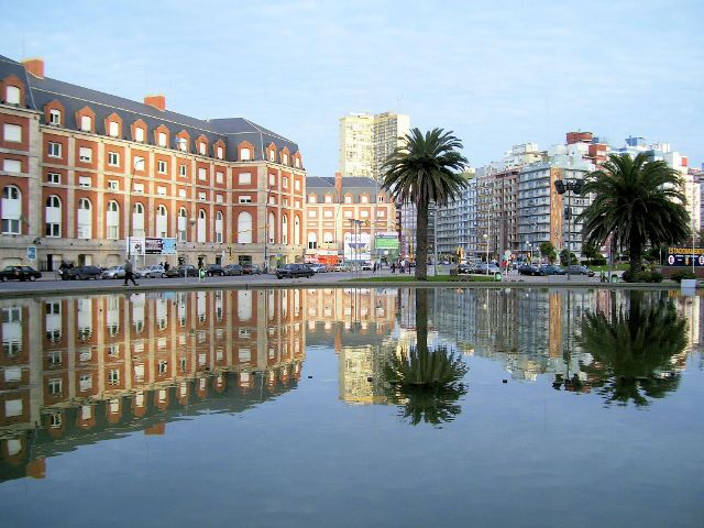 Plaza Colon in Mar del Plata Argentina