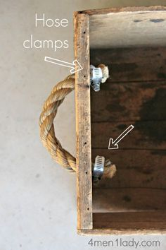 Rope drawer pulls.