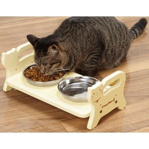 Dining table for cat / キャティーマン ウッディーダイニング キャット [猫用 食器台 テーブル]【楽天市場】