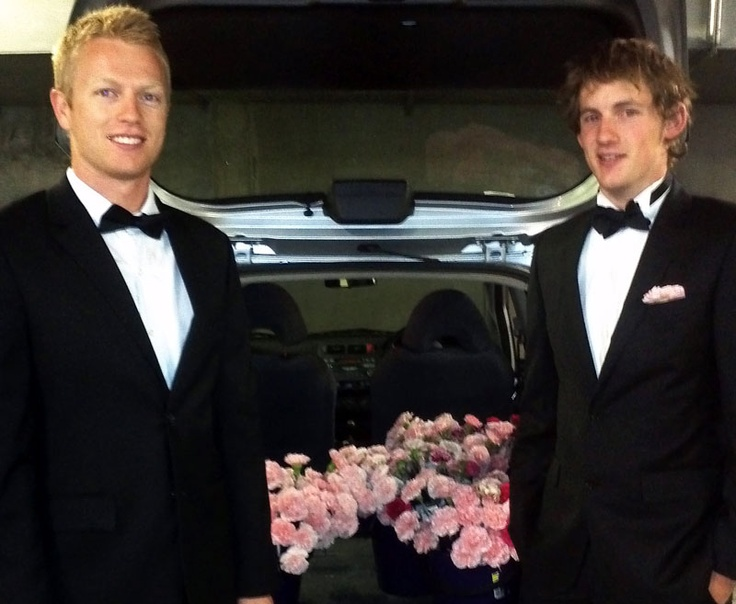 Our boys in black about to take to the streets for Jessica Blooms Valentines day give away!