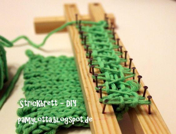 Stricken mit einem Strickbrett  Stricken mit strickring