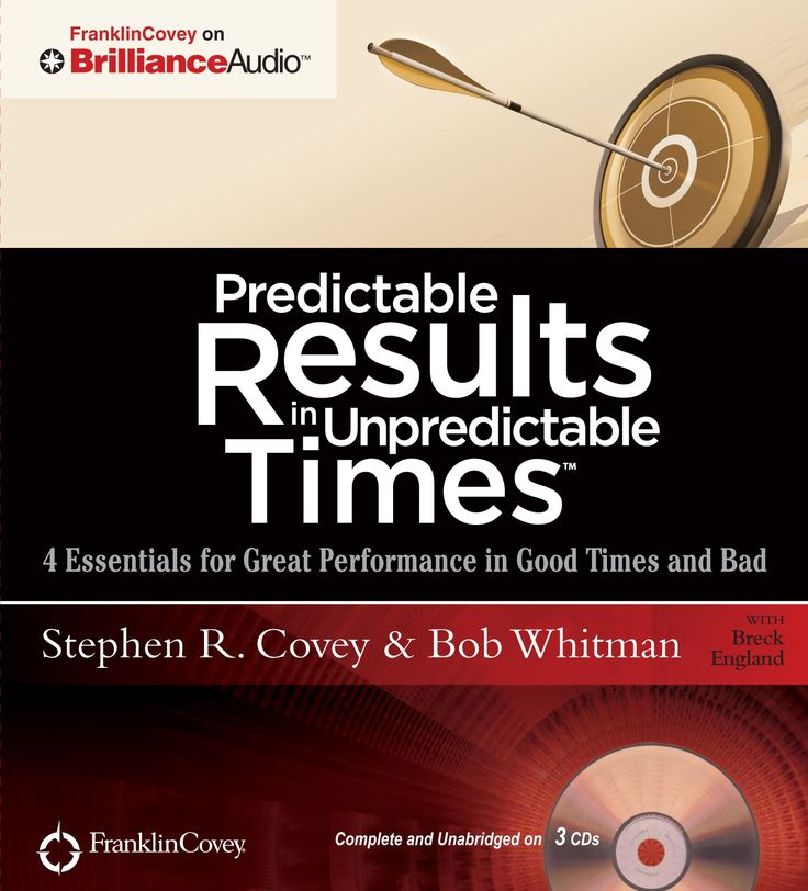 Predictable Results in Unpredictable Times: 4 Essentials for Great Performance in Good Times and Bad [Audiobook, CD, Unabridged] - FranklinCovey Store