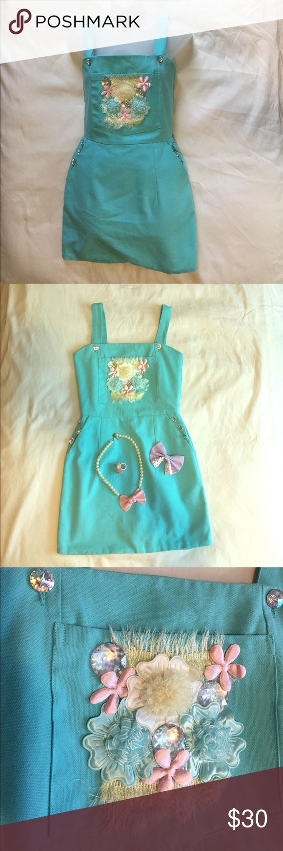 Pastel Dress NWOT Jumper W Pockets So cute. Durable material. Imported from Thailand fairy godmother Dresses Mini