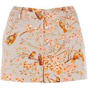 Oasis Bird Print Shorts, Multi