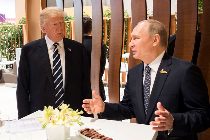 President Donald Trump's apparent endorsement of a proposed partnership with Russia on cybersecurity drew withering reviews Sunday from lawmakers, including several from his own party, while the president's aides struggled to answer questions about how hard Trump pressed Russian President Vladimir Putin on Moscow's meddling in last year's U.S. presidential election.