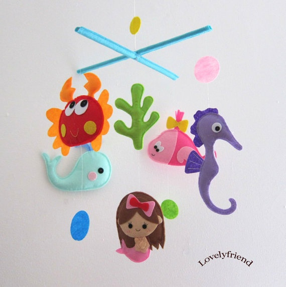 <3 the mermaid!!  Mobile Baby Crib Mobile  Baby Mobile  Crib mobiles by lovelyfriend, $78.00