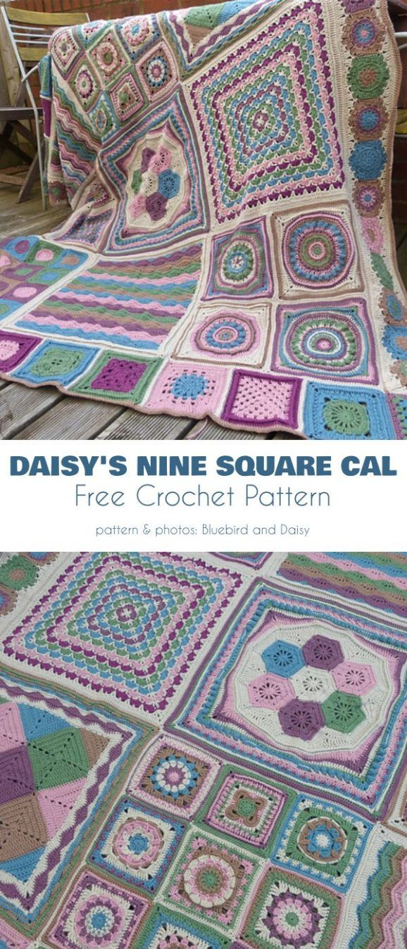 Square Blanket CAL Free Crochet Patterns