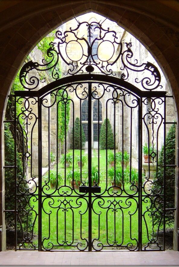 Royaumont Abbey - Asnières-sur-Oise, Val-d'Oise, France / more like a gate but it goes in my doors category for now