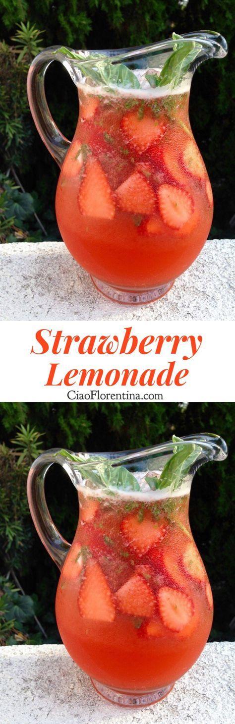 Strawberry Lemonade Recipe   CiaoFlorentina.com @CiaoFlorentina