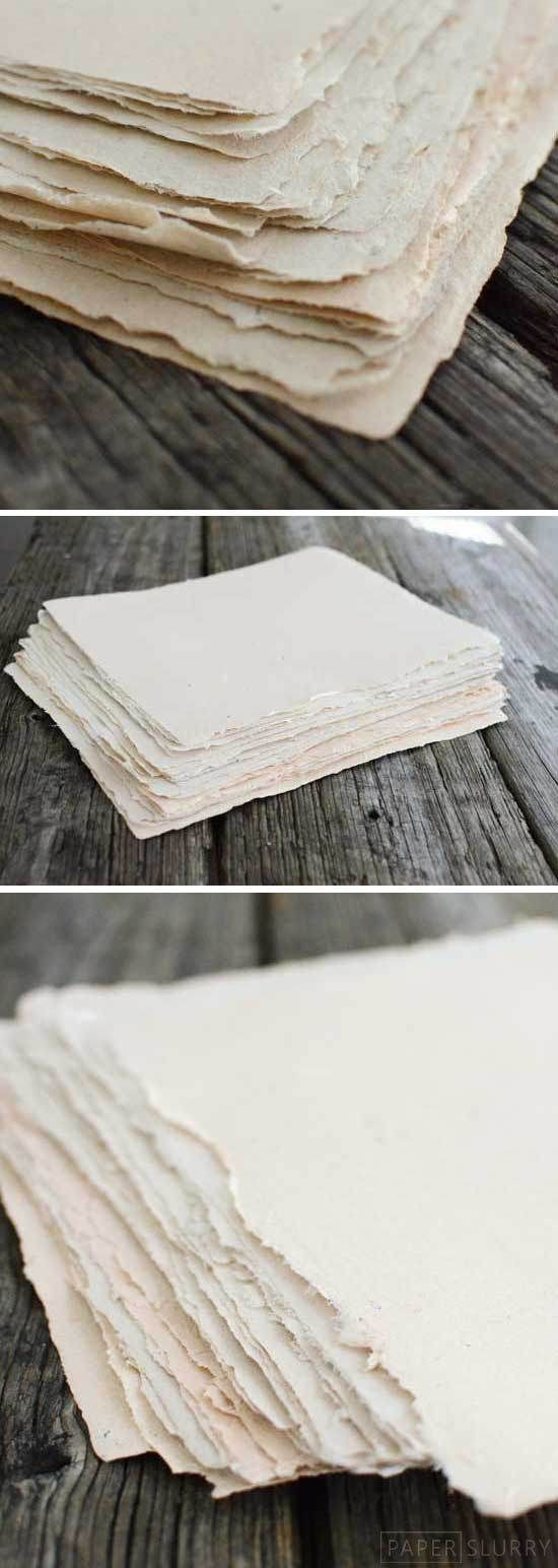 how to make handmade paper. I already know how, but ist been awhile since I did this.