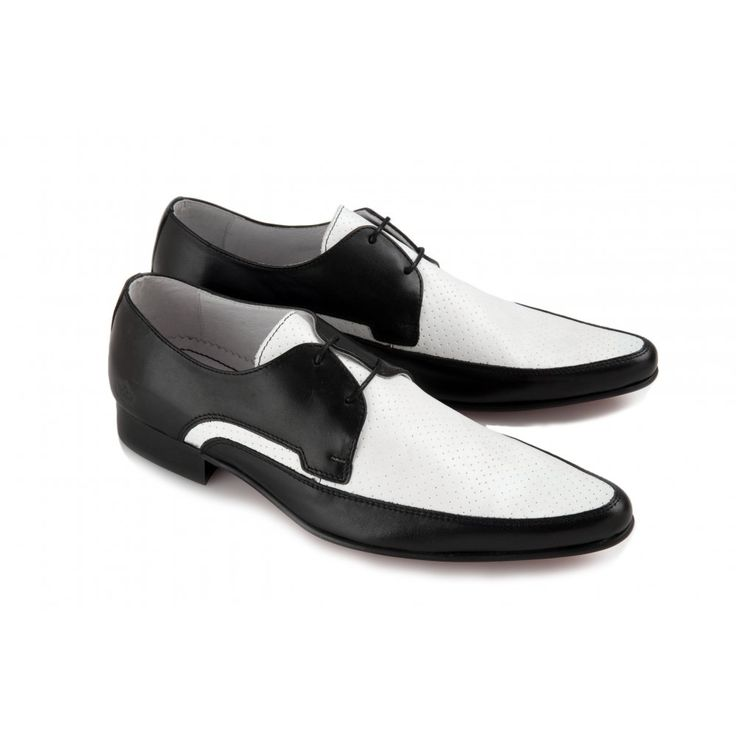 Black And White Dress Shoes  Ikon Mens Black &amp White JAM Shoe ...