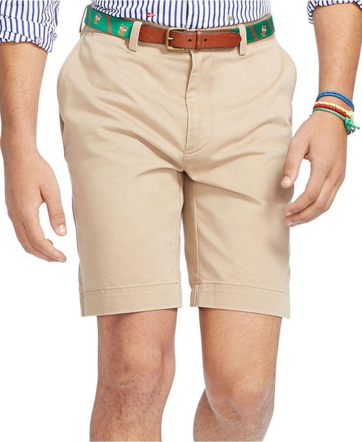 POLO Ralph LAUREN Shorts 41 BEIGE Tan FLAT Front PROSPECT Cotton FIVE Pocket MAN #PoloRalphLauren #FlatFront