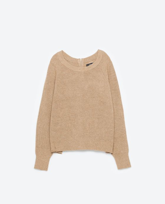 Image 8 of SWEATER WITH ZIP AT THE BACK from Zara