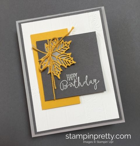 Special Celebrations Stamp Set & Seasonal Layers Thinlits Birthday Card. Read more https://stampinpretty.com/2017/09/modern-spin-autumn-birthday-card.html