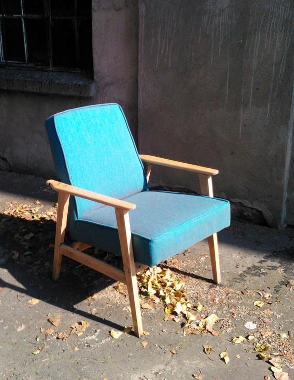 Fotel PRL retro - tylko wzorzysty