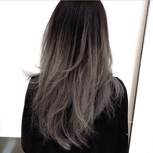 GREY OMBRÉ THIS IS SO PRETTY OMG