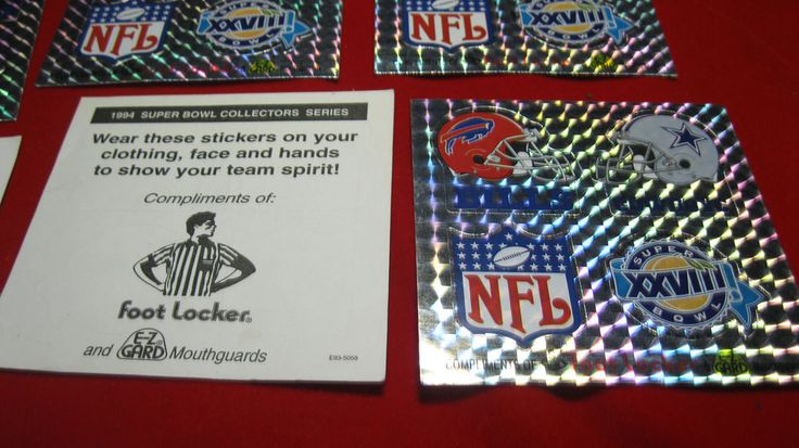 Super Bowl XXVlli -28 Foot Locker Promo Stickers Cowboys vs Bills New!! lot of 5 #BILLSVSCOWBOYS