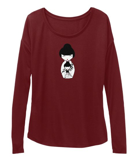 A mix between two different cultures...Japanese nesting doll long sleeved shirt