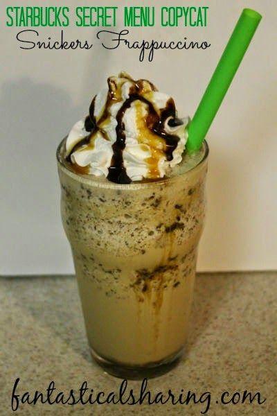 Snickers Frappuccino: A Starbucks Secret Menu Copycat #recipe #copycat #Starbucks