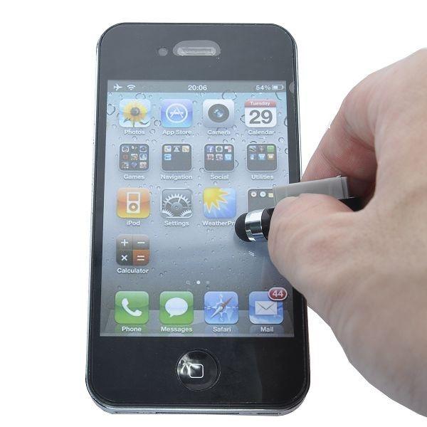 iPhone 4 Støvbeskytter med Berøringspenn (Hvit)