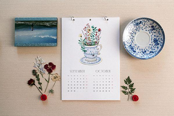Greenery on Behance calendar