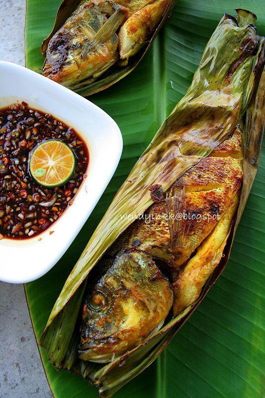 Ikan Panggang/Ikan Bakar Recipe (Grilled Fish Wrapped In ...