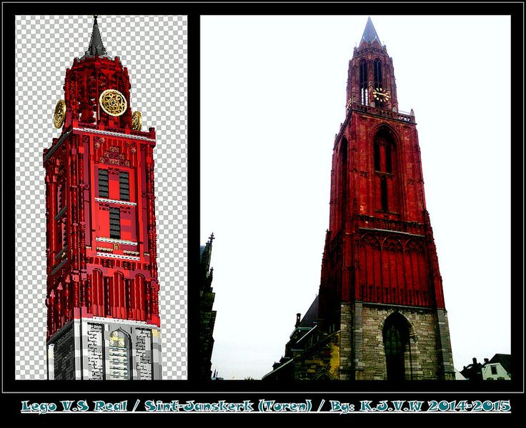 Lego V.S Real: Sint-Janskerk  (Toren) [Maastricht]  I love the colours of the lego version