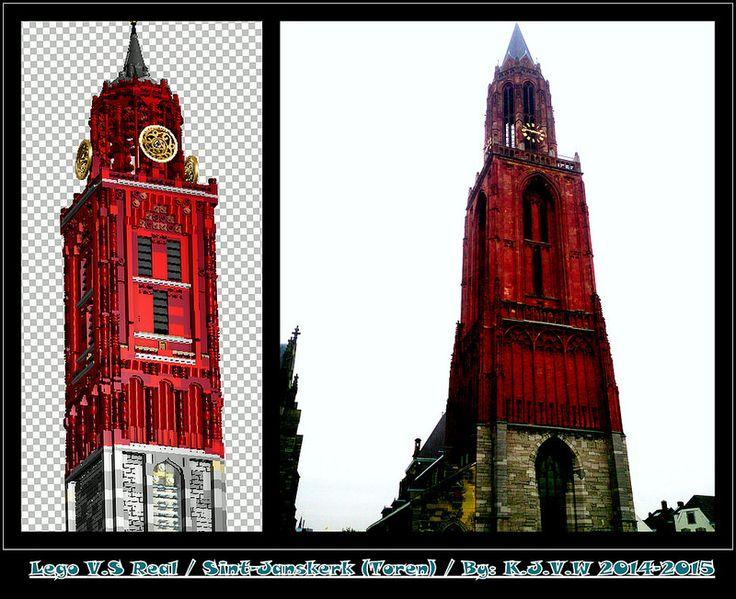 Lego V.S Real: Sint-Janskerk  (Toren) [Maastricht]  I love the colours of the lego version